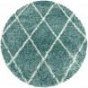 Tapis shaggy design rond géométrique Chantecler