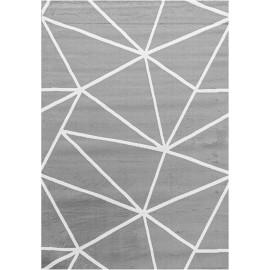 Tapis scandinave graphique gris pour salon Bouvreuil