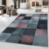 Tapis moderne cubique de salon rectangle Epervier