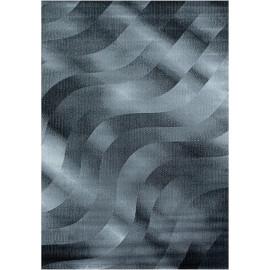 Tapis design de salon effet courbe rectangle Grimpereau