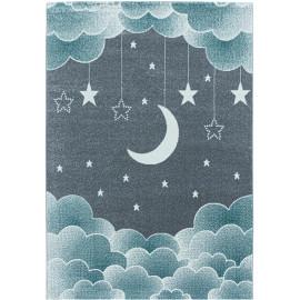 Tapis enfant à courtes mèches rectangle Lune