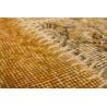 Véritable tapis patchwork en laine et noué main or Humma