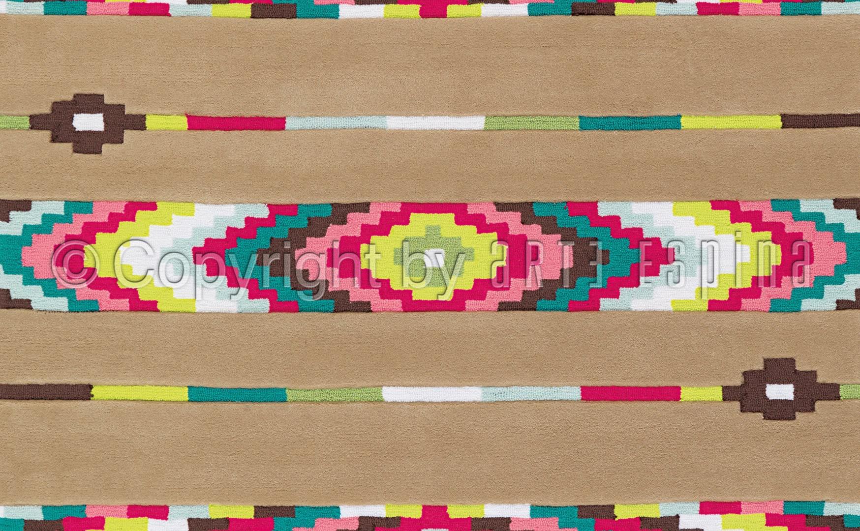 Tapis tufté main beige en acrylique Neo Hippie Arte Espina