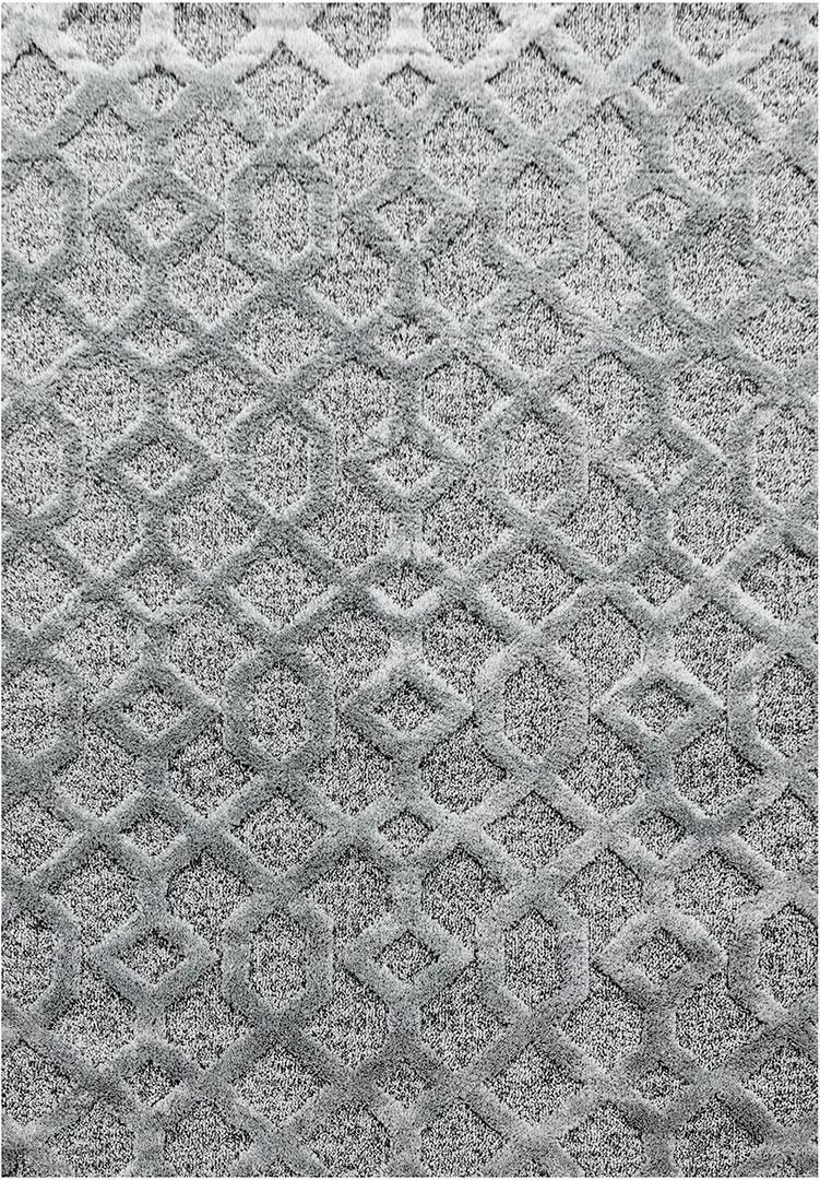 Tapis scandinave à courtes mèches rectangulaire Kiitos