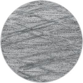 Tapis rond à courtes mèches design Lakka
