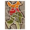 Tapis à courtes mèches design olive Mural Arte Espina