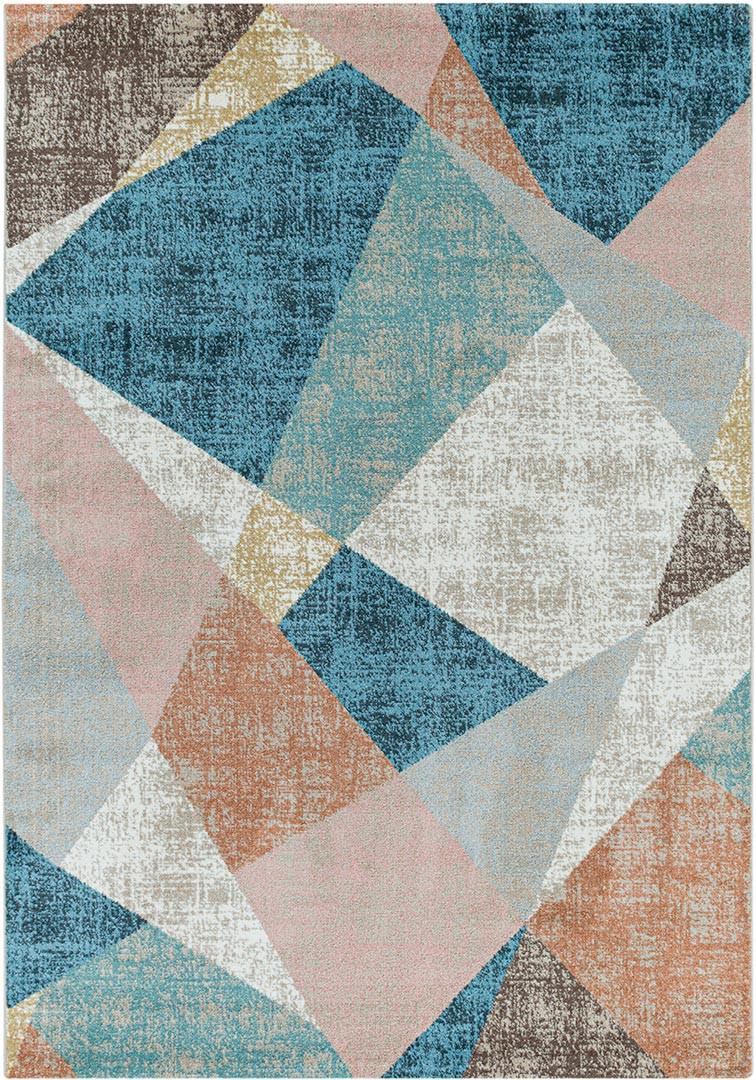 Tapis multicolore design pour salon Poupi