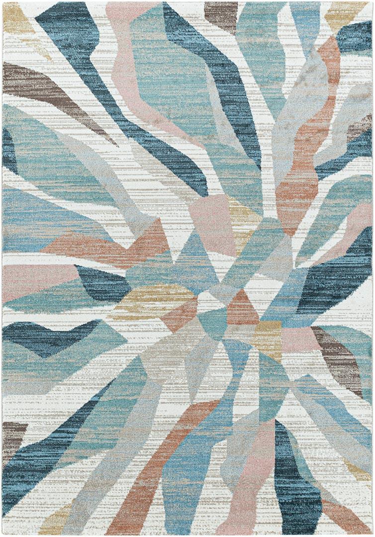 Tapis design multicolore rectangulaire Modern