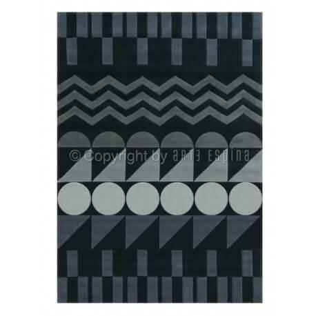 Tapis d'intérieur moderne gris Ethno Pop Arte Espina