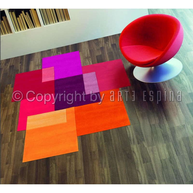 tapis moderne multicolore intersection arte espina. Black Bedroom Furniture Sets. Home Design Ideas