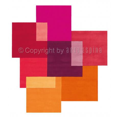 Tapis moderne multicolore Intersection Arte Espina
