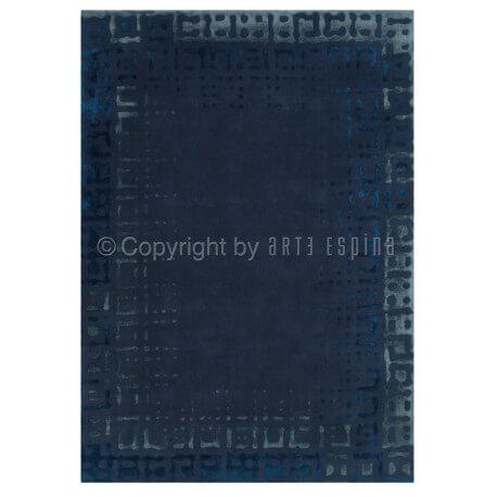 Tapis bleu en viscose et arylique Bolero Arte Espina