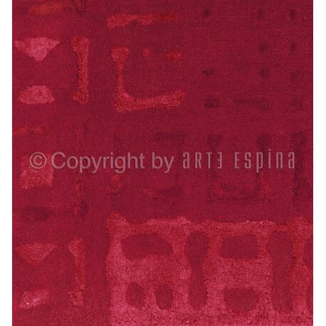 Tapis rouge en viscose et arylique Bolero Arte Espina