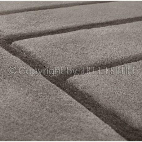 Tapis de bureau gris en acrylique Zen Arte Espina