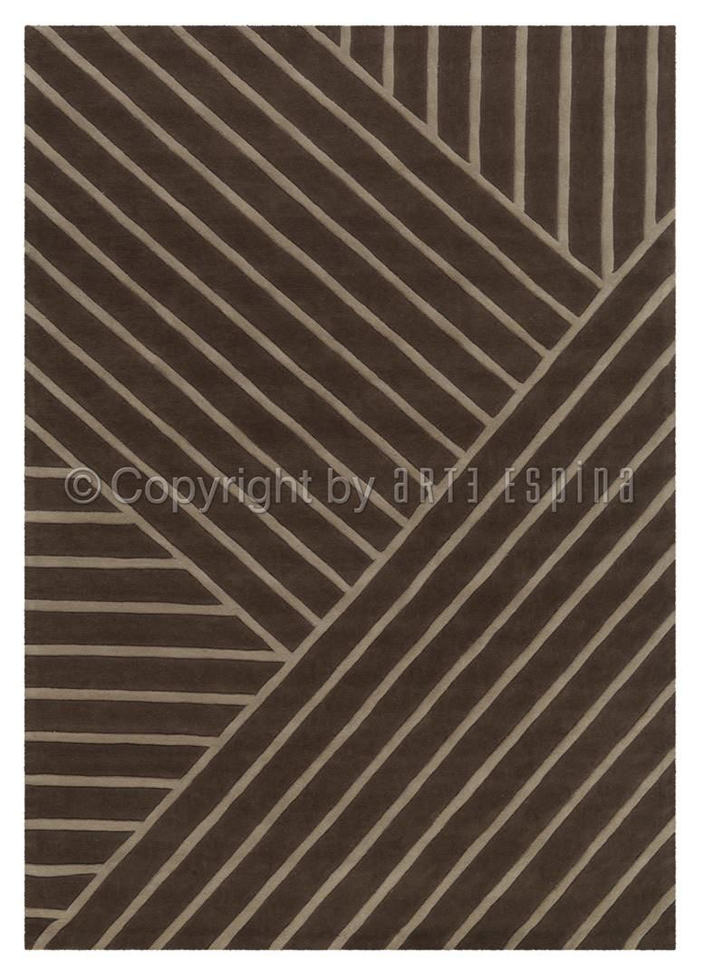 Tapis marron tufté main rectangle Zen Arte Espina
