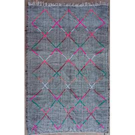 Tapis berbère en laine 230x150 tissé main gris Eleanor