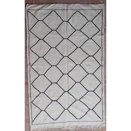 Tapis marocain berbère tissé main blanc 240x150 Sienna