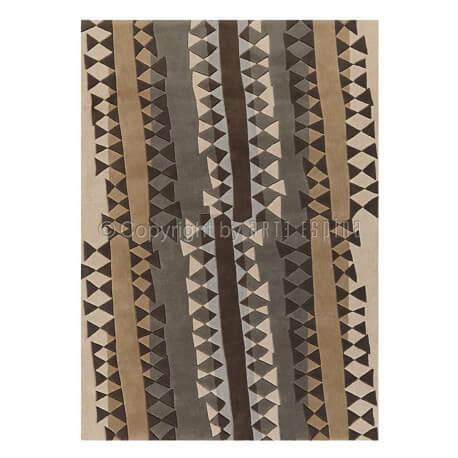 Tapis de salon en acrylique gris Topan Arte Espina
