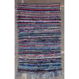 Tapis boucharouite vintage multicolore 155x95 noué main Rania
