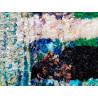 Tapis berbère boucharouite multicolore 195x150 noué main Rosemary