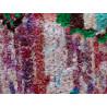 Tapis berbère boucharouite 215x125 multicolore noué main Rosine