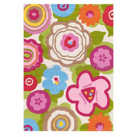 Tapis multicolore à motifs fleuris Arte Espina Bloom