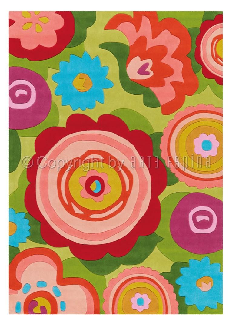 Tapis vert d'intérieur rectangulaire Bloom Arte Espina