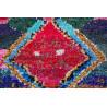 Tapis berbère boucharouite 170x135 noué main Olka