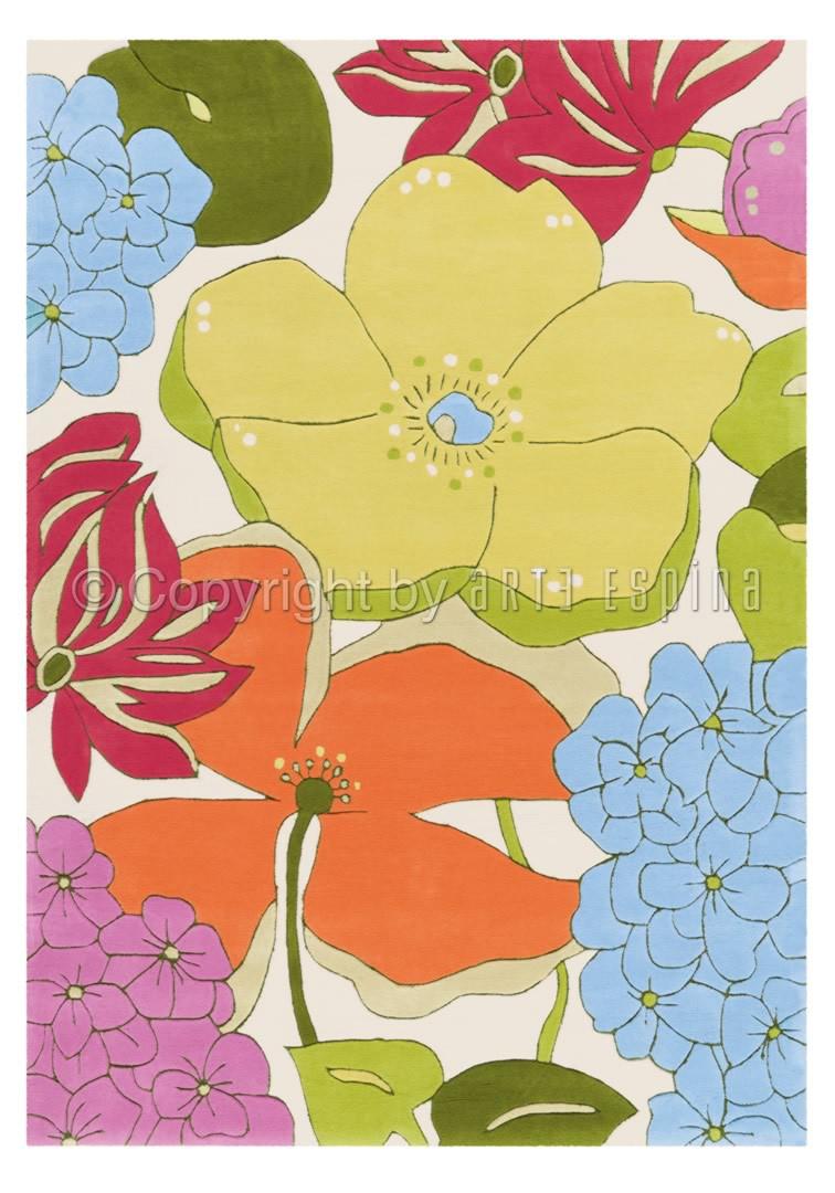 Tapis multicolore en acrylique Bloom Arte Espina