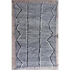 Tapis kilim laine zanafi gris 310x205 tissé main Ophélia