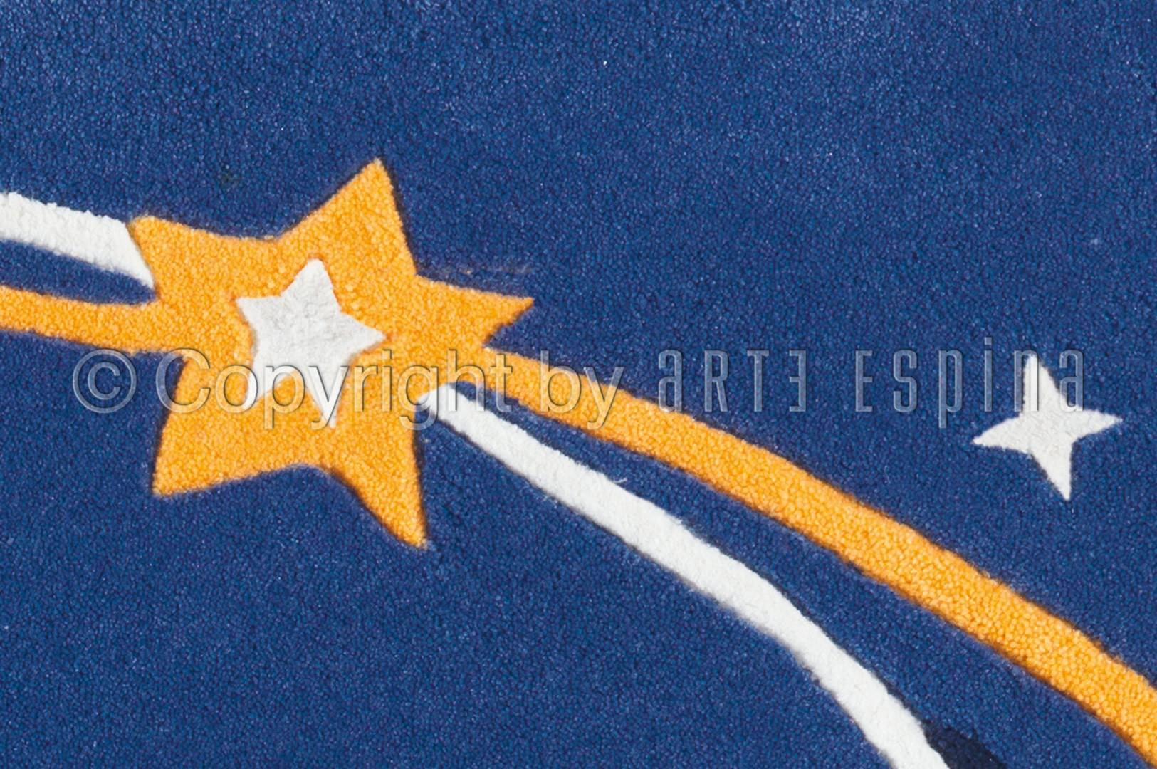 Tapis fluorescent pour enfant bleu Rocket Glowy Arte Espina