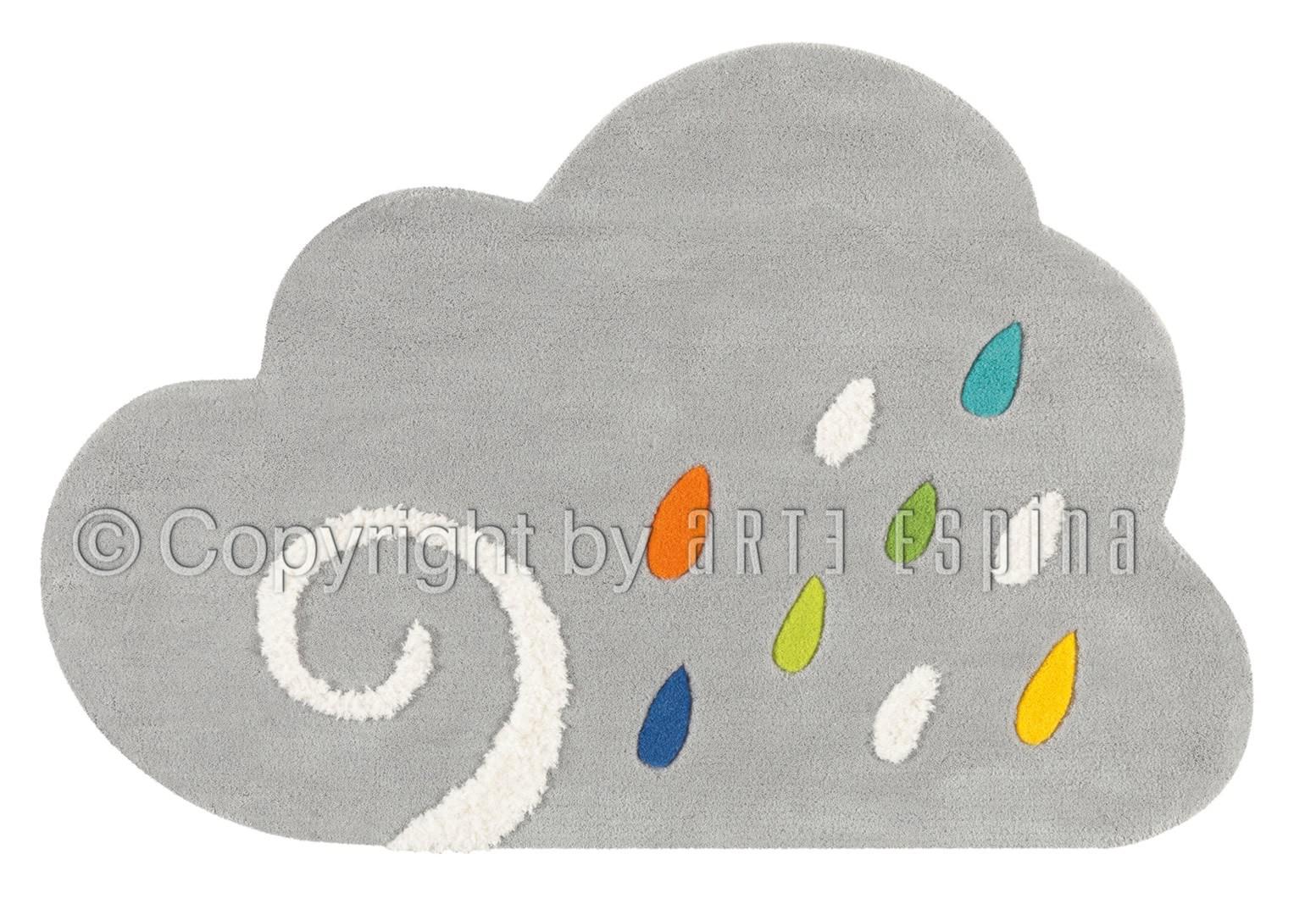 tapis pour chambre enfant gris cloud kids arte espina. Black Bedroom Furniture Sets. Home Design Ideas