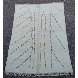 Tapis beni ouarain 100 % laine épaisse 450x270 Ahfir