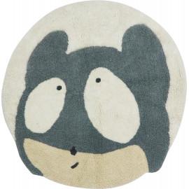 Tapis enfant en laine lavable en machine Mouse