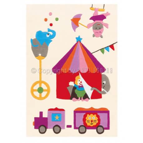 Tapis pour chambre de fille blanc Circus Kids Arte Espina