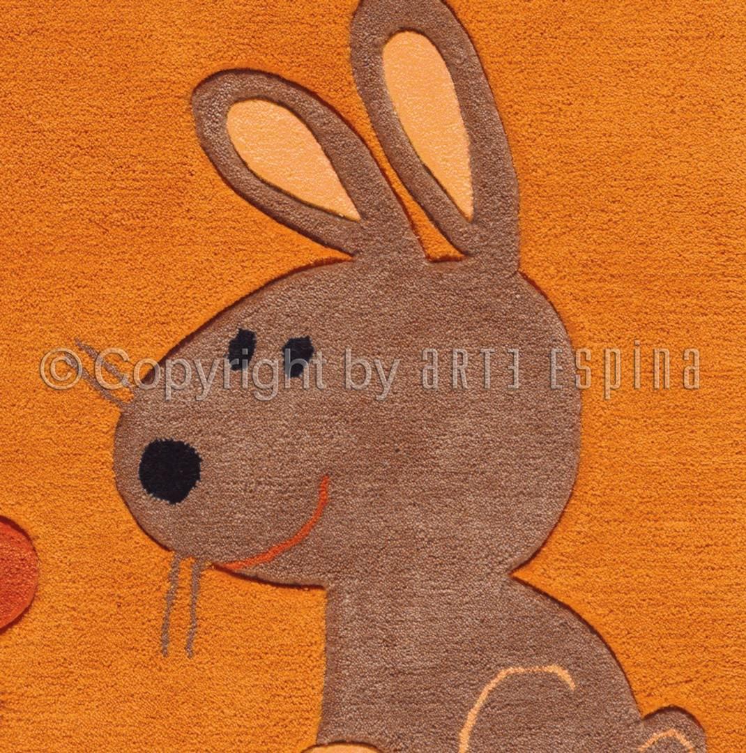 Tapis pour fille orange Dolly Kids Arte Espina