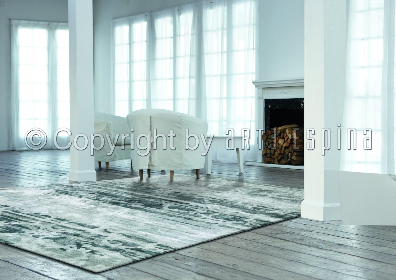 tapis vintage en viscose anthracite luxury arte espina. Black Bedroom Furniture Sets. Home Design Ideas