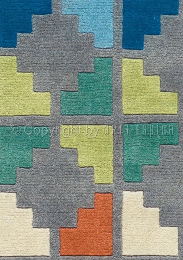 Tapis noué main gris en laine Freestyle Arte Espina
