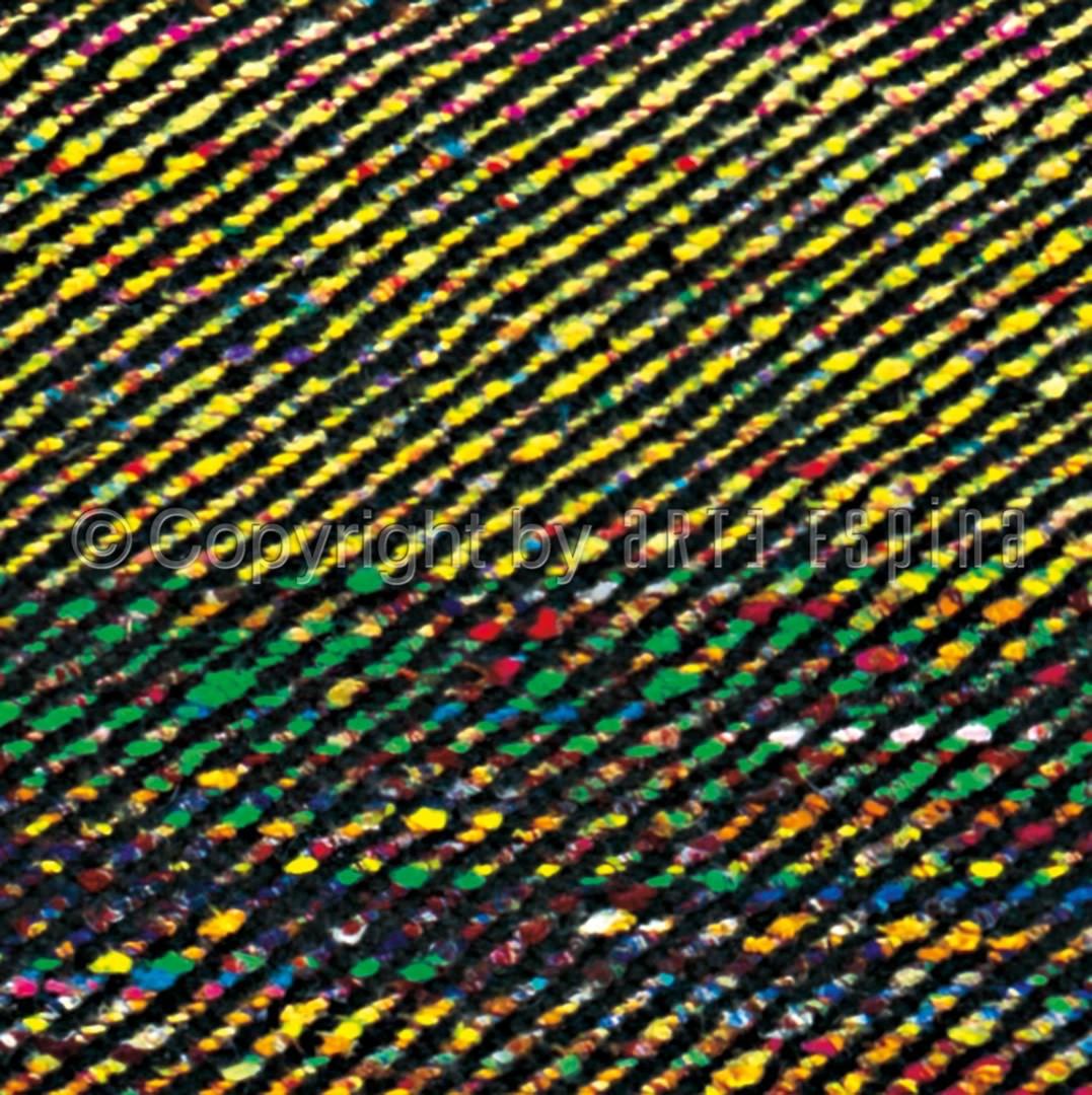 Tapis en soie de Sarée et laine plat multicolore Tip Top Arte Espina