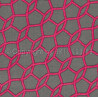 Tapis fait main en coton rose Flashy Geometry Arte Espina