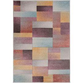 Tapis de salon design cubique multicolore Lilia