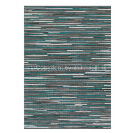 Tapis en cuir et laine turquoise Pioneer Arte Espina