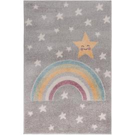 Tapis enfant shaggy Rainbow Night
