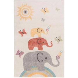 Tapis enfant shaggy Elephants