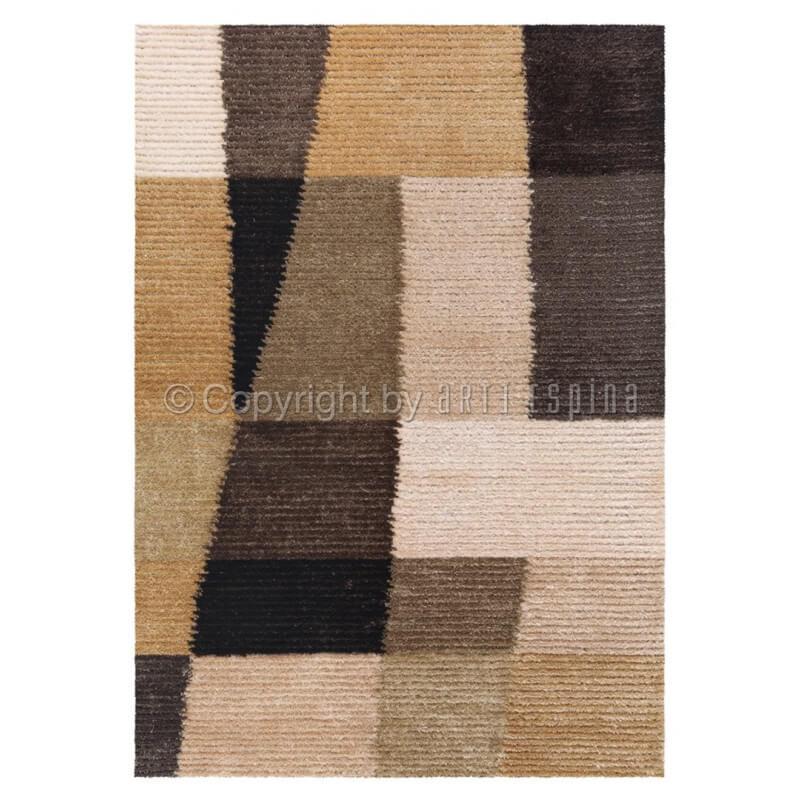 tapis moderne en relief marron jazz arte espina. Black Bedroom Furniture Sets. Home Design Ideas