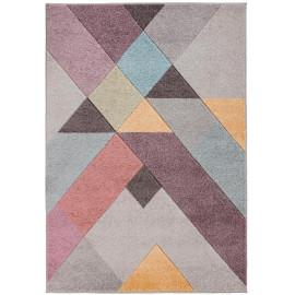 Tapis de salon géométrique multicolore Mika