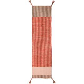 Tapis de couloir design en laine à franges Anu