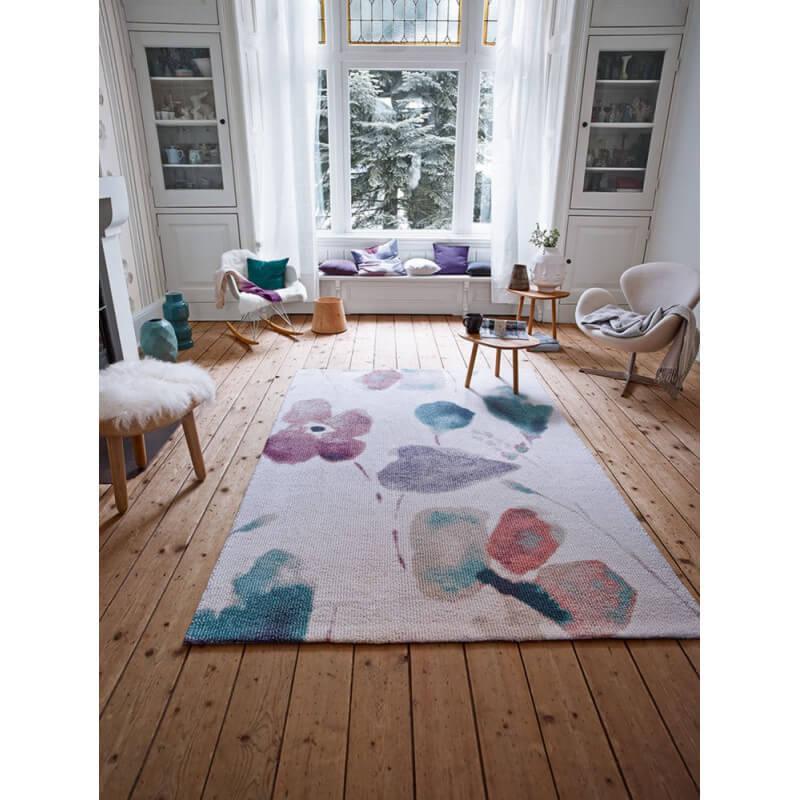tapis tuft main pour chambre blanc dream flower esprit home. Black Bedroom Furniture Sets. Home Design Ideas