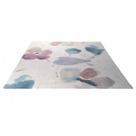 Tapis tufté main pour salon blanc Dream Flower Esprit Home