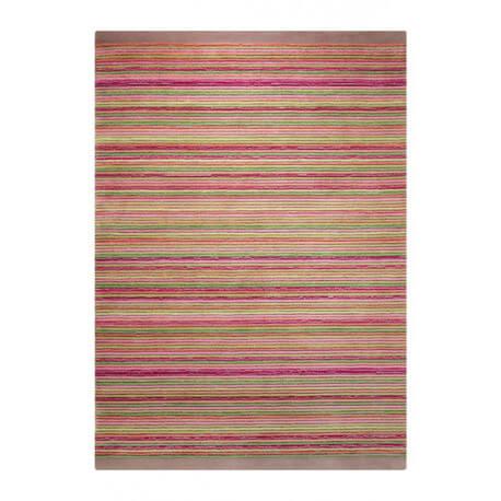 Tapis taupe pour chambre en acrylique Samba Stripes Esprit Home